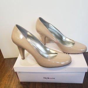 Style & Co.  Pamela Khaki Heels Pumps 9.5 NIB